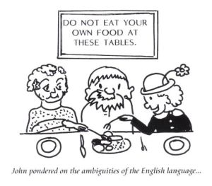 Own food cartoon from the Abbeys Amble book