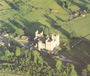 Photo of Bolton Castle from the Abbeys Amble book