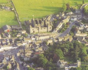Photo of Middleham Castle from the Abbeys Amble book