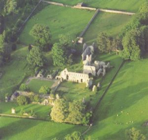 Photo of Jervaulx Abbey from the Abbeys Amble book