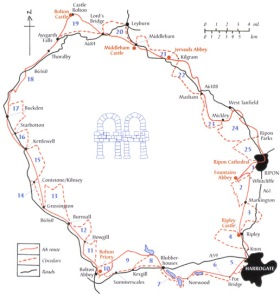Abbeys Amble map