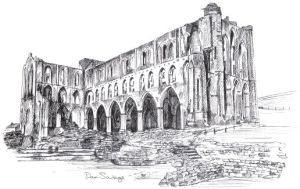 Photo of Rievaulx Abbey from the Cleveland Circles book