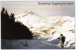 Photo of Roseberry Topping in the snow from the Cleveland Circles book