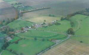 Aerial photo of Avebury from the ECHOES book