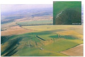 Aerial photo of White Horse Hill from the ECHOES book