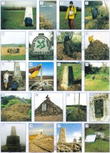 Trig points montage (left) from the ECHOES book