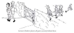 Fasten gates cartoon from the ECHOES book