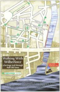 Map of Hull Old Town from the Wilberforce Way book