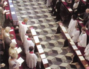 Photo of choir floor from the Wilberforce Way book