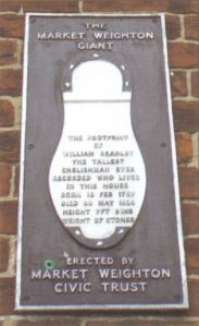 Photo of William Bradley memorial from the Wilberforce Way book