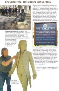 Polkington School page from the Wilberforce Way book