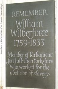 Minster memorial plaque photo from the Wilberforce Way book
