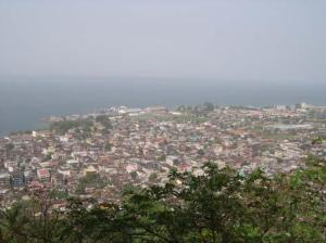 Freetown from the hills