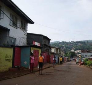 A Freetown street scene