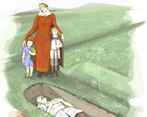 Reconstruction of burial