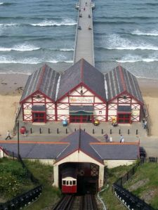 Saltburn lift base and pier