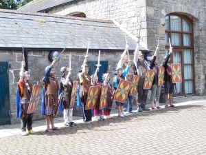 Children's 'Roman soldier training' at Birdoswald