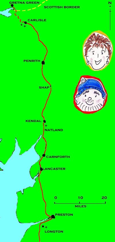 Heading for the Scottish border