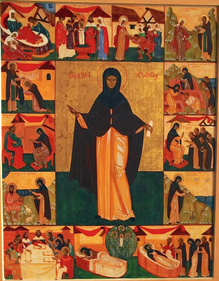 Icon of St Hilda - the theme of the walk