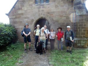 Pilgrims at the mortuary chapel