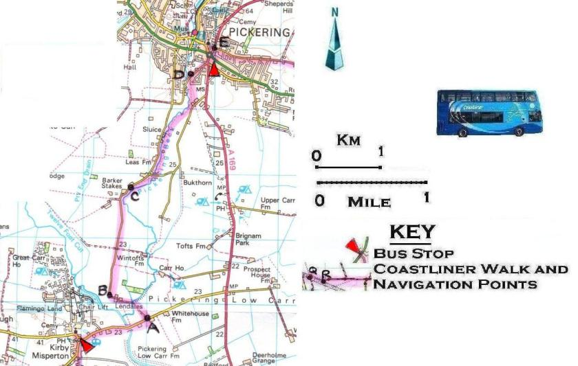 Walk 10 Kirby Misperton to Pickering 1:50,000 OS © Crown copyright 2017 CS-05488-NOY1H7