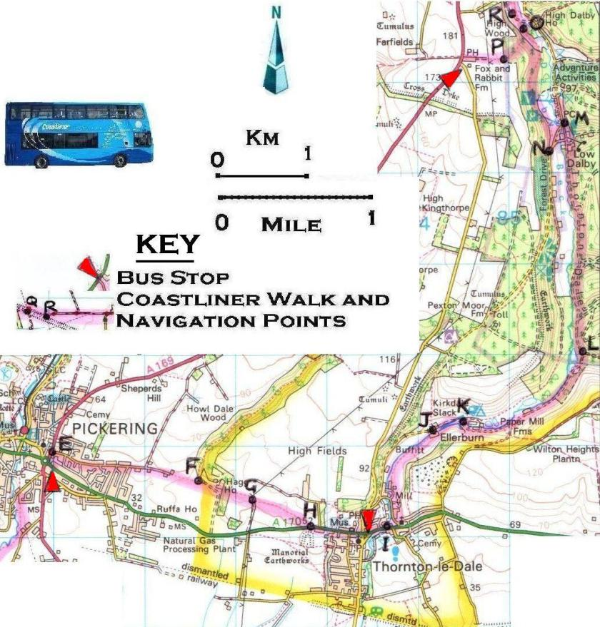 Walk 11 Pickering to the Fox and Rabbit 1:50,000 OS © Crown copyright 2017 CS-05488-NOY1H7