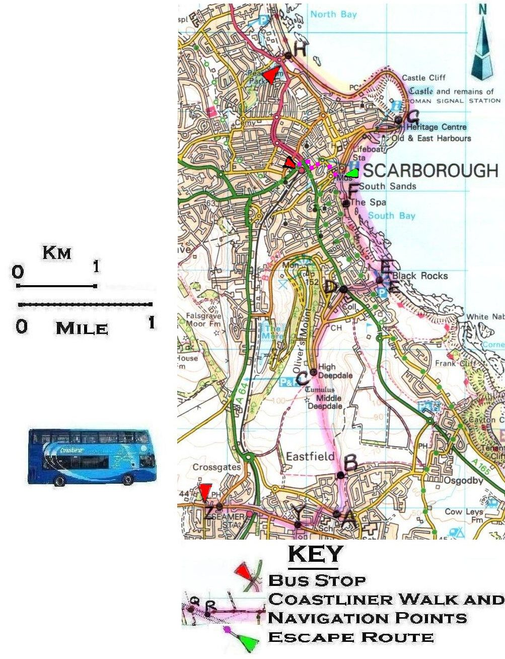 Walk 20 Eastfield To Scarborough Books By John And Nancy Eckersley